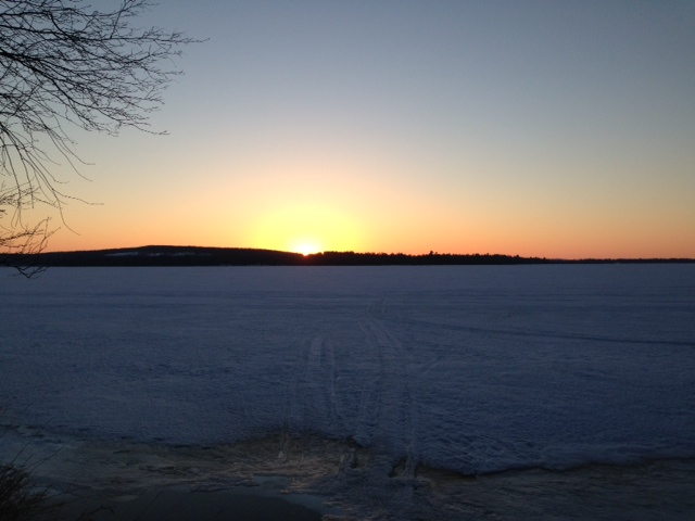 lake margrethe sunset