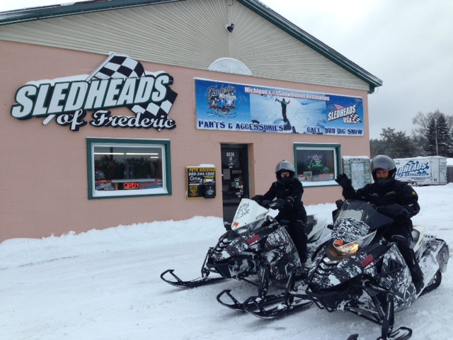 first sleds of 2015-16 riding season in Frederic