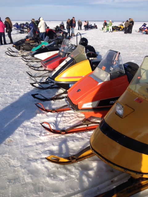 vintage sleds at houghton lake