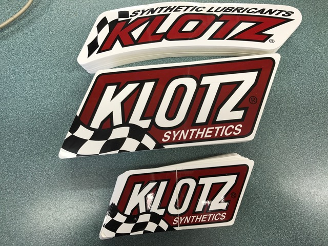Free Klotz decals, just ask when you come in