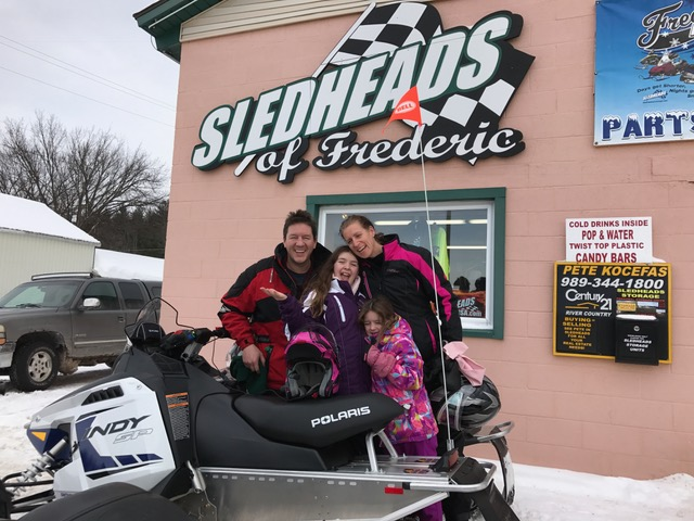 Canadian Family, new sleds, new riders
