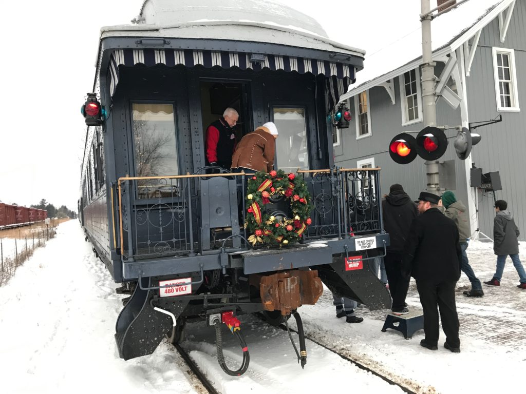 Christmas train makes stop in Grayling