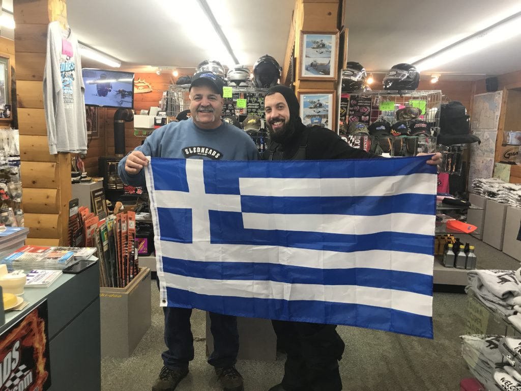 Basil a fellow greek from NC stopped in